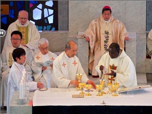 Serge Bationo, Clérigo de San Viator, ordenado presbítero en Kyoto, Japón