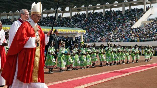 El papa Francisco en Bangui