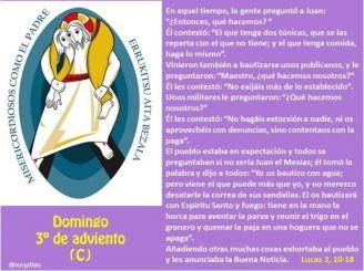 Evangelio del Tercer Domingo de Adviento