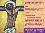 Evangelio del Domingo de Ramos